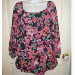 Beautiful Ann Taylor multi-color blouse, Size XL